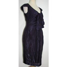 Paul Smith Black-Metallic bow dress-Purple