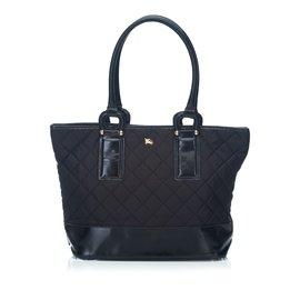 Burberry-Quilted Nylon Shoulder Bag-Black