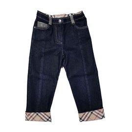 Burberry-Pantalons-Bleu