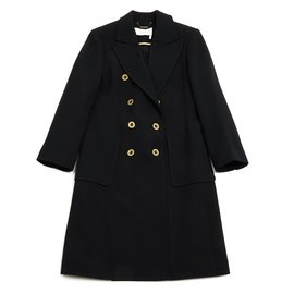 Chloé-Black wool coat-Black