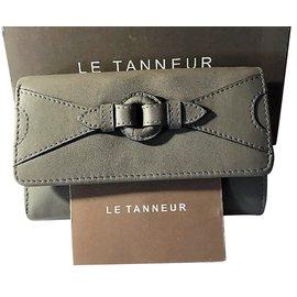 Le Tanneur-Portefeuille /Porte Monnaie Le Tanneur en cuir de Vachette pleine fleur Taupe neuf-Taupe