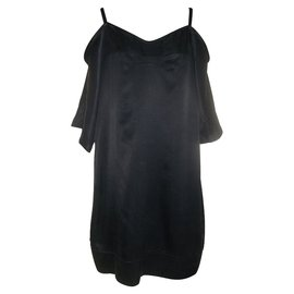 Costume National-Dress with lacing-Black