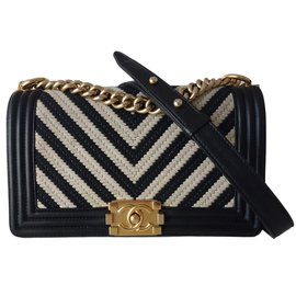 Chanel-BOY-Black,Beige