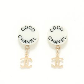 Chanel-BLACK WHITE STUDS-Blanc