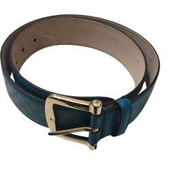 Gucci-Ceinture gucci en cuir bleu profond-Bleu Marine ... 44040c9a533