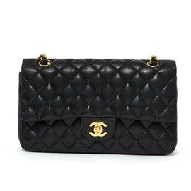Chanel-CHANEL TIMELESS CLASSIC 25 BLACK-Black