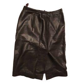 Chanel-Jupe mi-longue-Noir