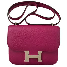 Hermès-Constance Epsom 18CM Rose Pourpre-Rose