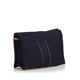 Hermès-Fourre Tout Pouch-Bleu,Bleu Marine