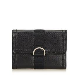 Dior-Petit portefeuille en PVC-Noir