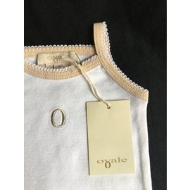 Autre Marque-Bib bodysuit-White,Beige