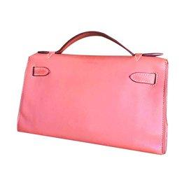 Hermès-Sac Kelly clutch-Rose