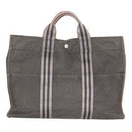 Hermès-Sac cabas modéle TOTO-Gris