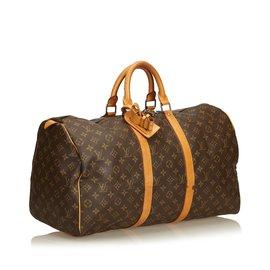 Louis Vuitton-Monogramme Keepall 60-Marron