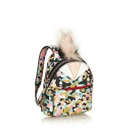 Fendi-Charme de sac à dos Mini Monster-Noir,Multicolore