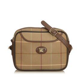 Burberry-Plaid Jacquard Crossbody Bag-Brown,Multiple colors,Beige