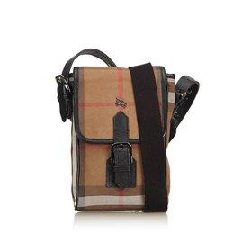 Burberry-Plaid Jacquard Crossbody Bag-Brown,Multiple colors