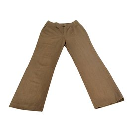 Chloé-Wool Trousers-Brown