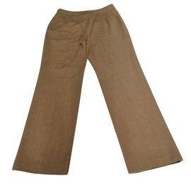 Chloé-Pantalon en laine de la collection-Marron