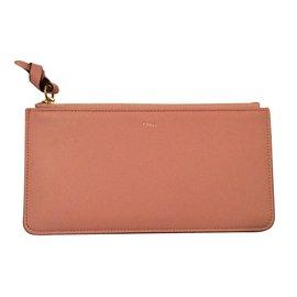 Chloé-Long Alphabet wallet-Pink