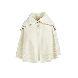 Chanel-Chanel Cream Wool Knit Cape FR34-Cream