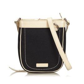 Burberry-Canvas Crossbody Bag-Black,White,Cream