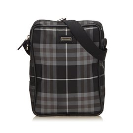 Burberry-Plaid Nylon Crossbody Bag-Black,Multiple colors