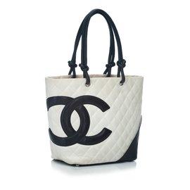 Chanel-Cambon Ligne Tote Bag-Noir,Blanc