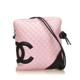 Chanel-Cambon Ligne Shoulder Bag-Noir,Rose