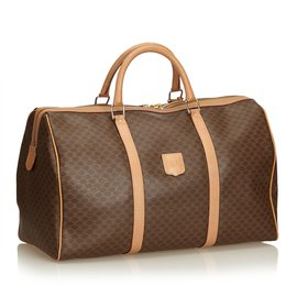 Céline-Macadam Duffel Bag-Brown