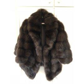 543ebc178f77e4 Belle veste de zibeline, Doublure en soie - L inter