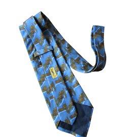 Yves Saint Laurent-Cravates-Bleu