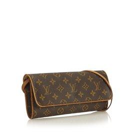 Louis Vuitton-Monogram Pochette Twin GM-Marron