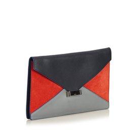 Céline-Diamant Clutch-Noir,Multicolore
