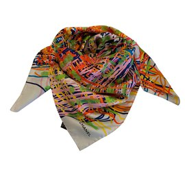 Chanel-silk scarf-Multiple colors