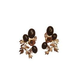 Autre Marque-Earrings Zoe Coste-Black,White,Bronze