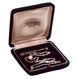 Hermès-Chaine Argent Clou de selle-Argenté
