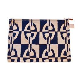 Hermès-Pochette Grand modèle Atlantique-Bleu foncé