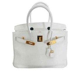 Hermès-Blanc Swift Birkin 30-Blanc