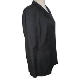 Escada-Tailleur pantalon-Gris anthracite