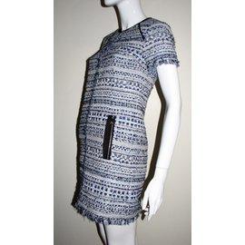 Karl Lagerfeld-Tweet avec robe en fil métallique-Multicolore