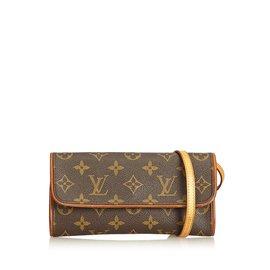 Louis Vuitton-Monogram Pochette Twin PM-Marron