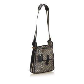 Louis Vuitton-Mini Lin Mary Kate-Noir,Autre,Gris