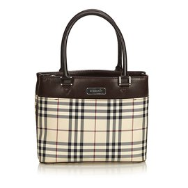 Burberry-Plaid Jacquard Shoulder Bag-Brown,Multiple colors,Beige