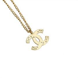 Chanel-Collier pendentif Etoiles CC-Doré