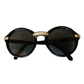 Cartier-Cabriolet Black / Lunettes de soleil Vintage / Lunettes de soleil Legendery '90-Noir