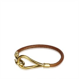 Hermès-Bracelet Crochet Jumbo-Marron,Doré