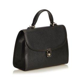 Burberry-Leather Handbag-Black