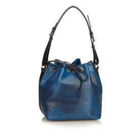 Louis Vuitton-Epi Bicolor Quelque chose de GM-Noir,Bleu