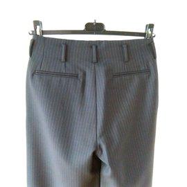 Gucci-Pantalon en laine vierge et Mohair.-Bleu